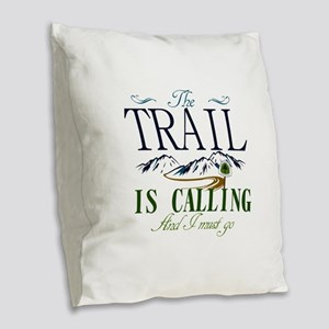 The Trail Is Calling [AT] Burlap Throw Pillow